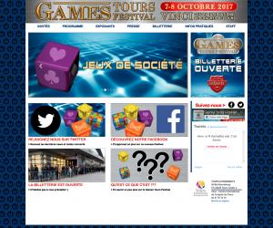 Site pour le Games Tours Festival